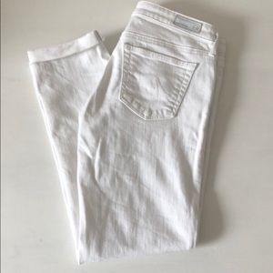 Ag Adriano Goldschmied Skinny Ankle White Jeans